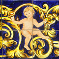 Child In Blue And Gold by David Lee Thompson