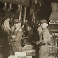 Child Laborers In Glassworks. Indiana, 1908 by Celestial Images