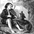 Child Playing Violin by Granger
