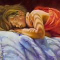Child Sleeping Print Wall Art Room Decor by Patti Trostle