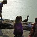 Children At The Pond 1 Version 2 by Madeline Ellis
