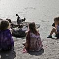 Children At The Pond 2 by Madeline Ellis