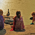 Children At The Pond 4 by Madeline Ellis