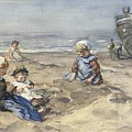 Children On The Beach by MotionAge Designs