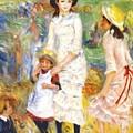 Children On The Seashore 1883 by Renoir PierreAuguste
