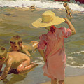 Children On The Seashore by Joaquin Sorolla y Bastida