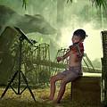 Children Playing Violin In The Folk Style. by Somchai Sanvongchaiya