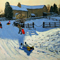 Children Sledging by Andrew Macara