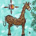 Childrens Nursery Art Original Giraffe Painting Playful By Madart by Megan Duncanson
