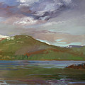 Chimney Rock  At Priest Lake  Plein Air by Betty Jean Billups