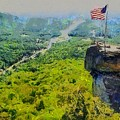 Chimney Rock Nc by Elizabeth Coats
