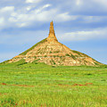 Chimney Rock North Platte River Valley Nebraska  - Chimrock168482 by Frank J Benz