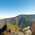 Chimney Tops Vista In Great Smoky Mountain National Park Tennessee by Brendan Reals