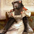 Chimp In Gown  by Gravityx9  Designs
