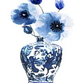 China Ming Vase With Flower by Green Palace