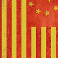 Chinese American Flag Vertical by Tony Rubino
