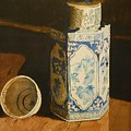 Chinese Bottle And Cup by Walt Maes