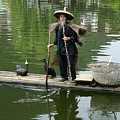 Chinese Cormorant Fisherman by Michele Burgess