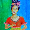 Chinese Dancer -- The Original -- Portrait Of Asian Woman by Jayne Somogy