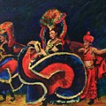 Chinese Dancers by B Rossitto