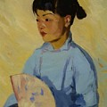 Chinese Girl With Fan 1914  by Henri Robert