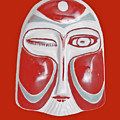 Chinese Porcelain Mask Red by Heiko Koehrer-Wagner