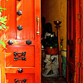 Chinese Red Shop Door by Mexicolors Art Photography