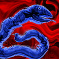 Chinese Serpent Rising by Abstract Angel Artist Stephen K