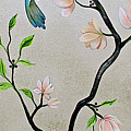Chinoiserie - Magnolias And Birds #5 by Shadia Derbyshire