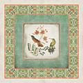Chinoiserie Vintage Hummingbirds N Flowers 1 by Audrey Jeanne Roberts