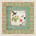 Chinoiserie Vintage Hummingbirds N Flowers 2 by Audrey Jeanne Roberts