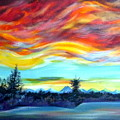 Chinook Arch Over Bow River by Anna  Duyunova