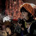 Cho Chin Woman Smoking  by Dan Yeger