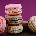 Chocolate And Strawberry Macaroons by Milleflore Images