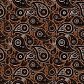 Chocolate Brown Paisley Design by Ross