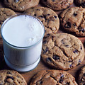 Chocolate Chip Cookies And Glass Of Milk by Garry Gay