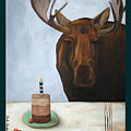 Chocolate Moose With Lettering by Leah Saulnier The Painting Maniac