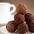 Chocolate Truffles And Coffee by Elena Elisseeva