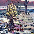 Cholla Saguargo And Ocotillo by Donald Maier