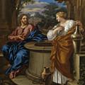 Christ And The Woman Of Samaria by Giuseppe Nicola Nasini