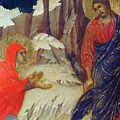 Christ Appearing To Mary Magdalene Fragment 1311 by Duccio