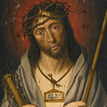 Christ As The Man Of Sorrows by Circle of Jan Mostaert