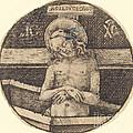 Christ As The Man Of Sorrows by Israhel Van Meckenem