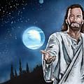 Christ At Night by Bill Richards