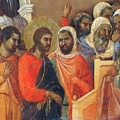 Christ Before Caiaphas Fragment 1311 by Duccio