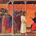 Christ Before Pilate 1311 by Duccio