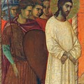 Christ Before Pilate Fragment 1311 by Duccio