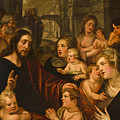 Christ Blessing The Children by Studio of Artus Wolfaerts