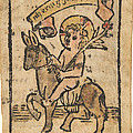 Christ Child On Donkey by German 15th Century