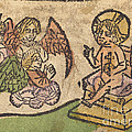 Christ Child With Three Angels by German 15th Century